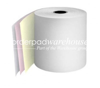 76mm 3 Ply Rolls White/Pink/Yellow Boxed 20s - 064