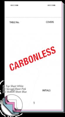 95 x 165mm Pre-Printed Triplicate NCR Restaurant Pad Boxed 100s - PAD200